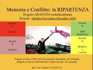 Progetto : 'Memoria e Conflitto: la RIPARTENZA'