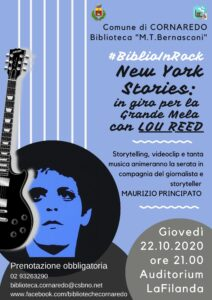 #BiblioInRock 2020 – New York Stories: in giro per la Grande Mela con LOU REED