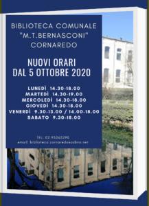 La biblioteca M.T.Bernasconi di Cornaredo cambia orari di apertura