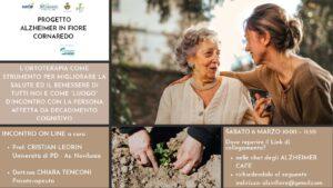 PROGETTO ALZHEIMER IN FIORE CORNAREDO – INCONTRO 06/03/2021