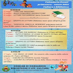 Calendario eventi ed iniziative culturali e del tempo libero