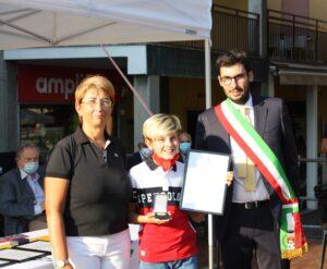 Foto di premiazione di Lorenzo Galli